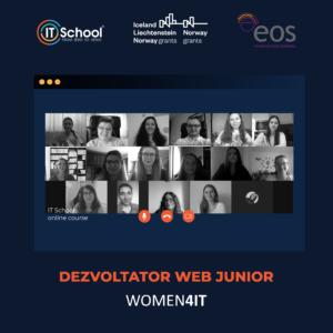 Absolvente în grupa Jr. Web Developer WOMEN4IT