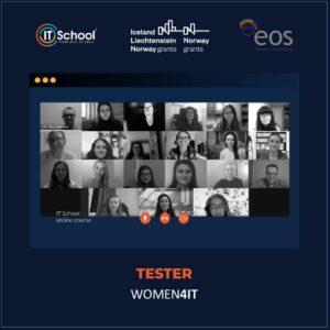 Absolventele grupei Software Tester 1 WOMEN4IT