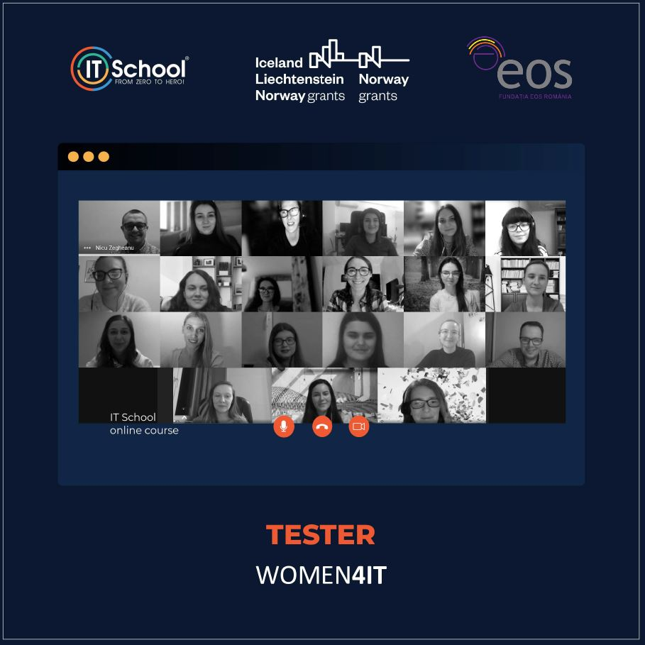 Absolventele grupei Administrator de Proiect WOMEN4IT