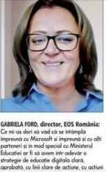 Gabriela Ford, director Fundatia EOS Romania